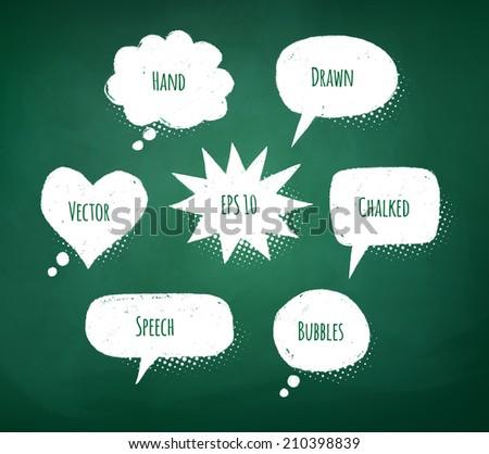 Chalked design. Vector illustration. - stock vector