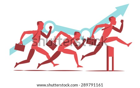 Challenge for the success - stock vector