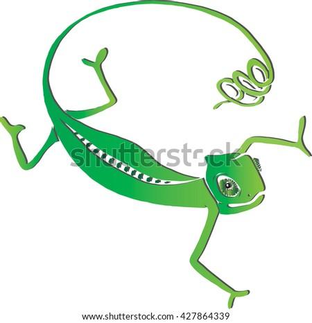 Green chameleon logo - photo#19