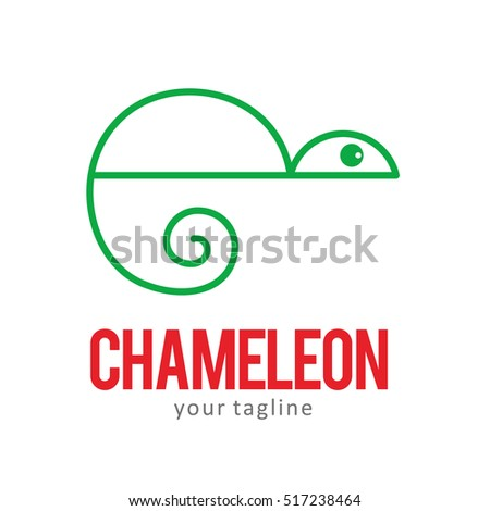 CHAMELEON LOGO ICON SYMBOL EMBLEM TEMPLATE Stock Vector HD (Royalty ...