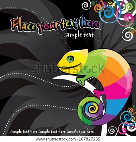Chameleon vector illustration - stock vector