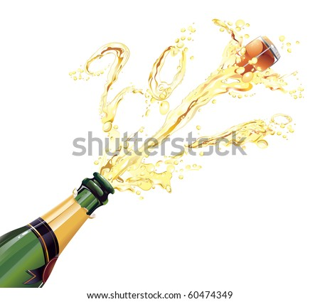 Champagne Explosion - stock vector