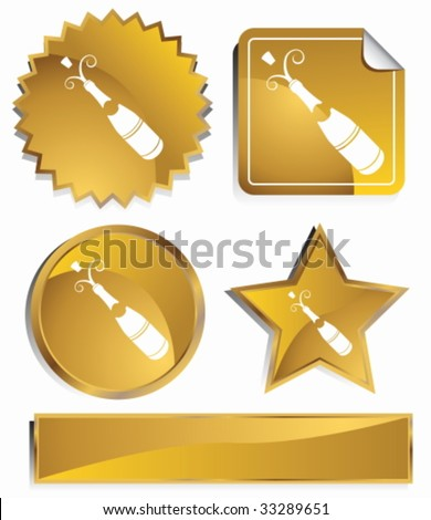 Champagne gold - stock vector