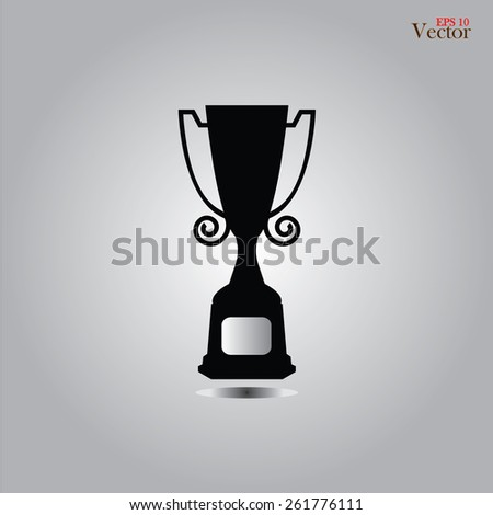 Champions Cup icon.award cup .vector illustration     - stock vector