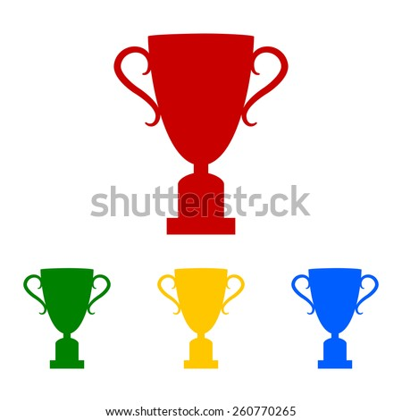 Champions Cup icon. Vector illustration - stock vector