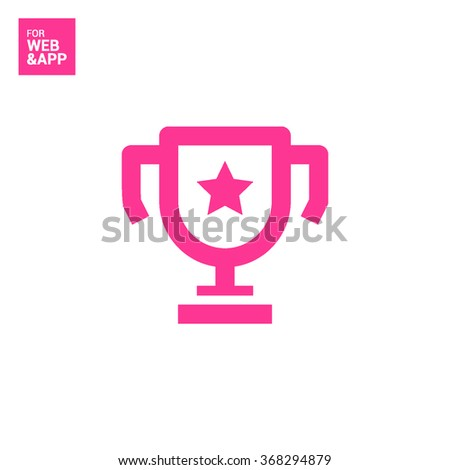 champions cup isolated minimal single flat icon. Winner line vector icon for websites and mobile minimalist flat design. - stock vector