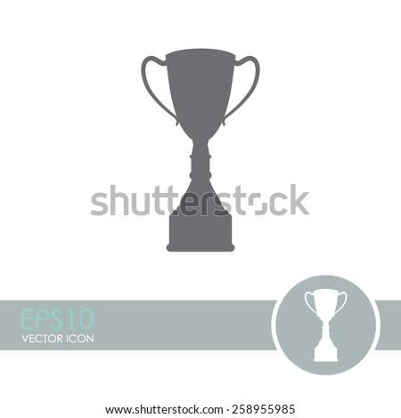 Champions cup vector icon. Trophy symbol. - stock vector