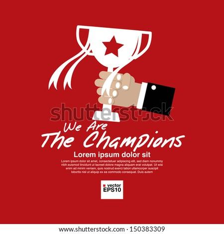 Champions Vector Illustration Concept.EPS10  - stock vector
