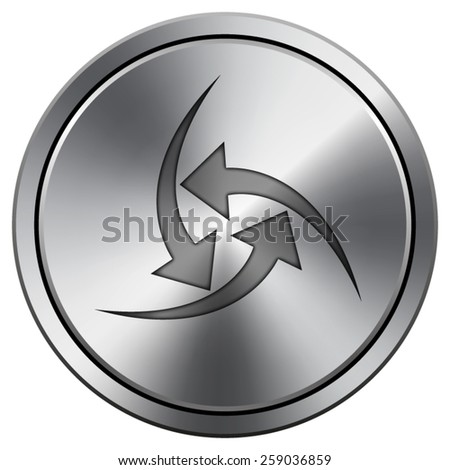 Change icon. Internet button on white background. EPS10 Vector.  - stock vector