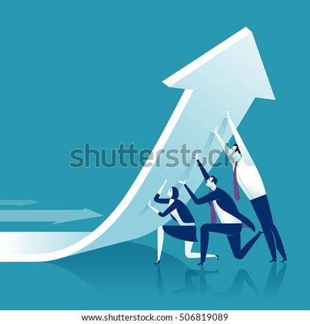 Change of a direction. Business concept vector illustration