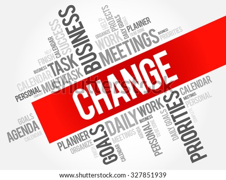 Change word cloud business concept - stock vector