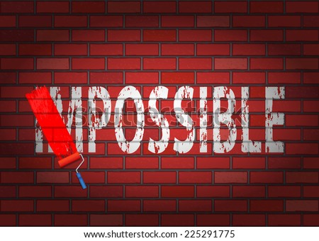 Changing the word impossible to possible - stock vector