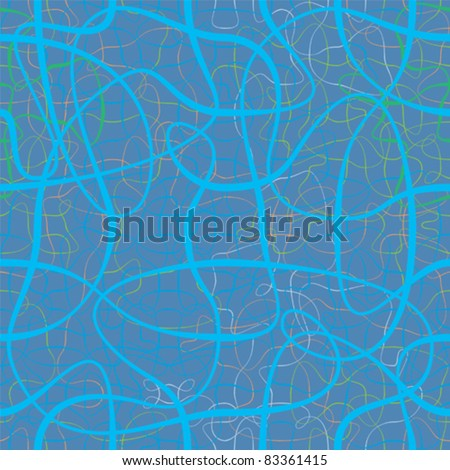 chaotic color ribbons repetition vector background - stock vector