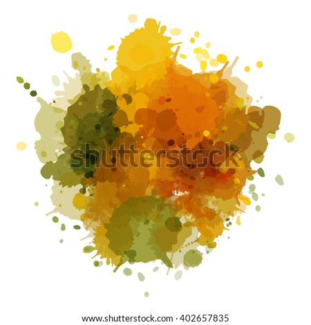 Chaotic colorful dabs, abstract background. Vector element for your design.