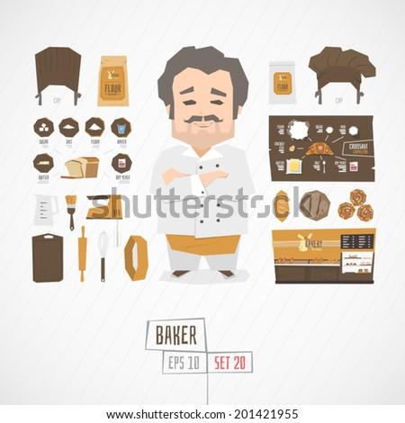 Character baker vector illustration - stock vector
