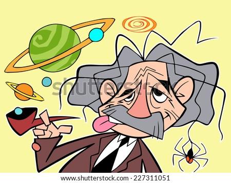 Character design cartoon of Intelligent men no.1+2 - stock vector