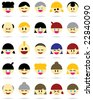 Character Icons - stock vector