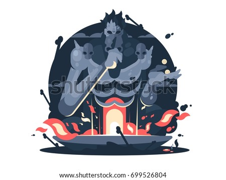 Character Hades God Death Ancient Greek Stock Vector Royalty Free