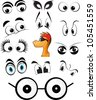 character set of cartoon eyes vector illustrations - stock vector