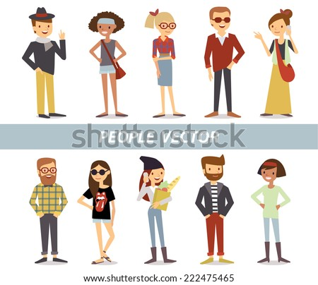characters - stock vector
