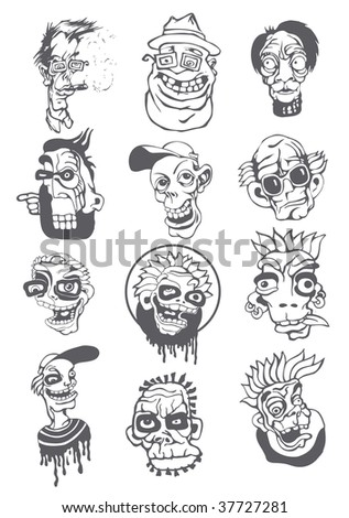 characters in a graphic style. vector illustration.