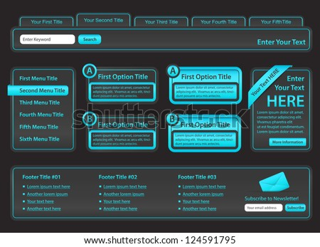 Charcoal Website Design with Light blue elements