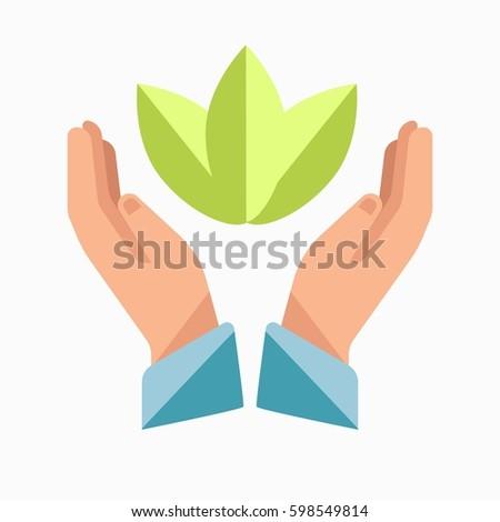 Charity Logo Template Vector Symbol Hands Stock Vector 598549814