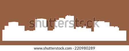 Charleston city silhouette - stock vector