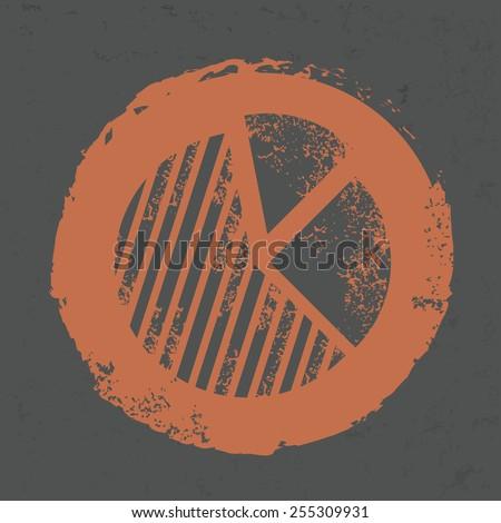 Chart design on grunge background, grunge vector - stock vector