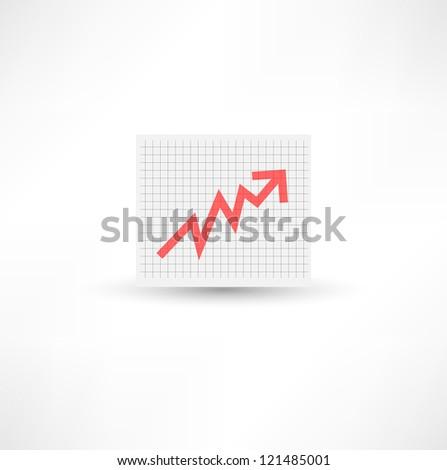 Chart Icon - stock vector