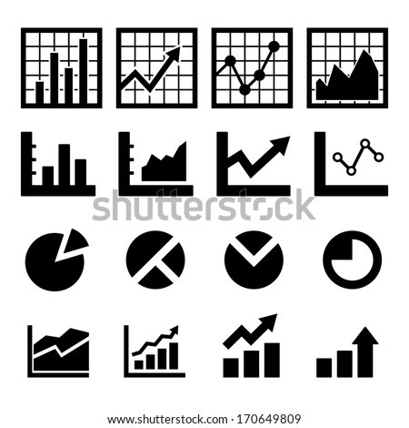Chart Icon - stock vector