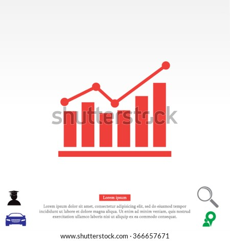 chart icon . Vector  Eps 10  - stock vector