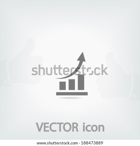 chart icon, vector illustration. Flat design style - stock vector