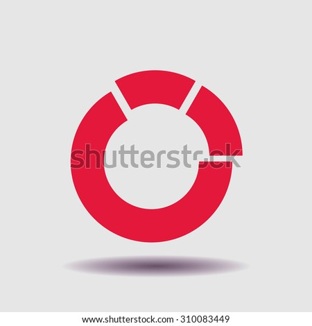 Chart icon, vector illustration. Flat design style - stock vector