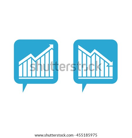 Chart with bars declining and rising vector icon. Decrease and increase sign icons. Finance graph symbol. Pictograph of graph - stock vector