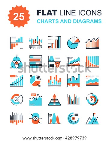 Charts and Diagrams - stock vector