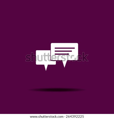 Chat - stock vector