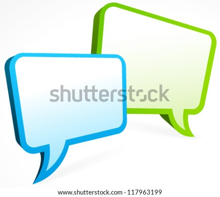 Chat bubble - stock vector