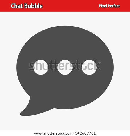 Chat Bubble Icon. Professional, pixel perfect icon optimized for both large and small resolutions. EPS 8 format. - stock vector