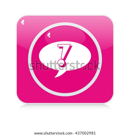 chat button - stock vector