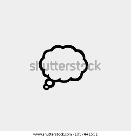 chat cloud talking cloud vector mind stock vector royalty free