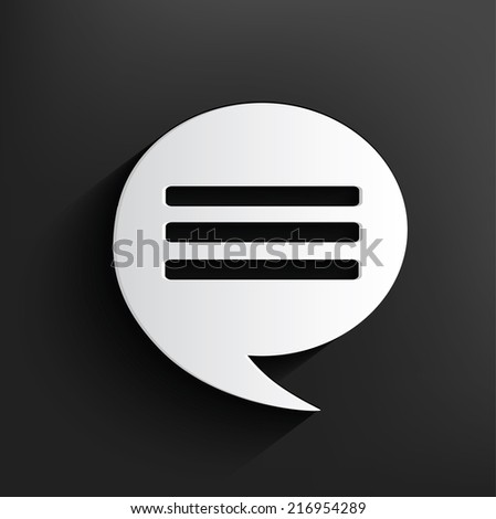 Chat design,Dark version,clean vector - stock vector