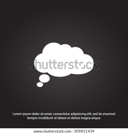 Chat Flat Icon.Vector EPS 10.  - stock vector