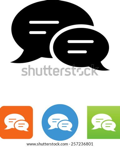 Chat icon. Vector icons for video, mobile apps, Web sites and print projects. - stock vector