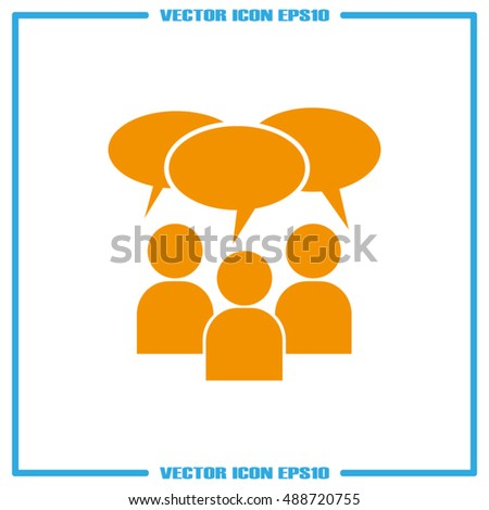 Chat icon vector illustration