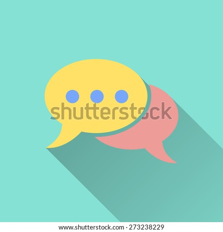 Chat icon. Vector illustration, flat design.  - stock vector
