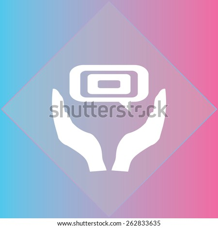 chat icon, vector illustration. Flat design style - stock vector