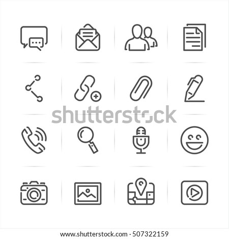 Chat Icons for Application with White Background
