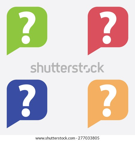 Chat Icons Set With Question Mark - stock vector