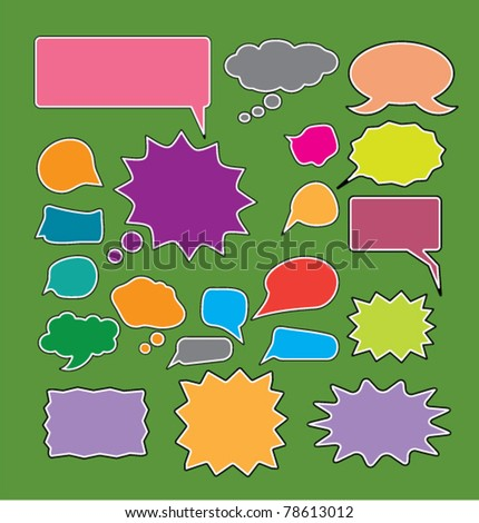 chat icons, vector - stock vector